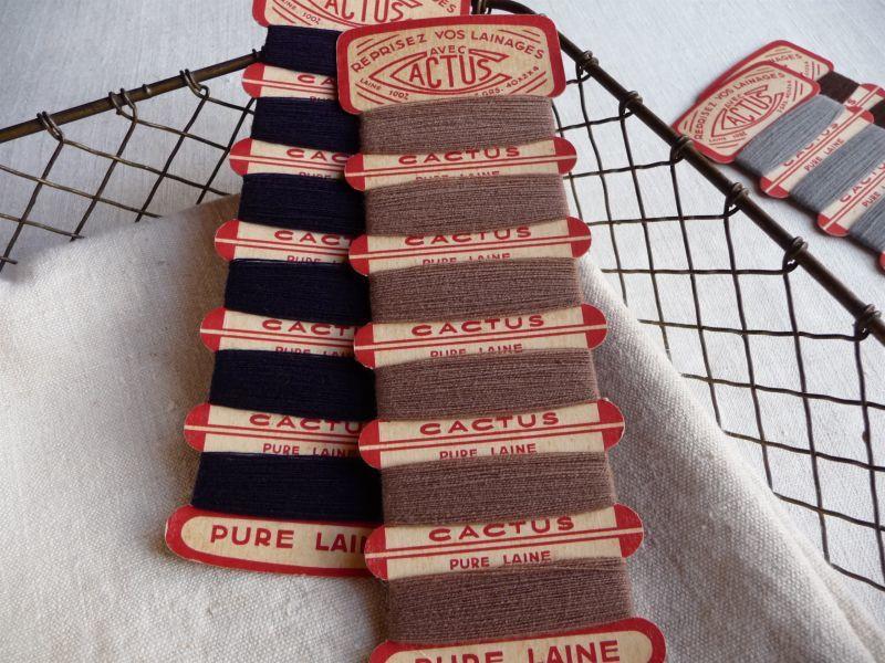 画像1: フランス製 CACTUS ウールの糸巻き 2個セット A