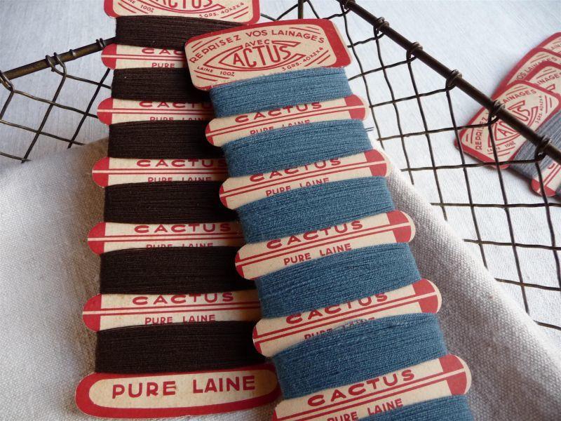 画像1: フランス製 CACTUS ウールの糸巻き 2個セット C