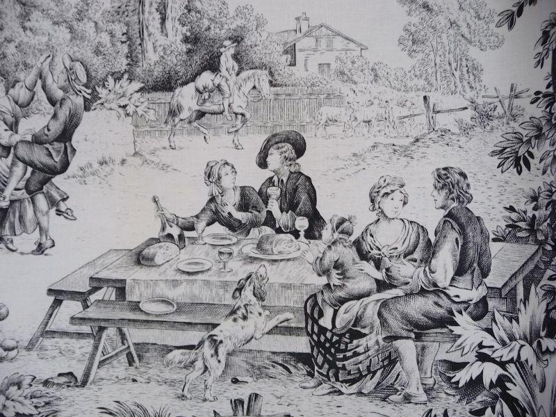 画像1: フランス製 ファブリック トワルドジュイ 春の宴