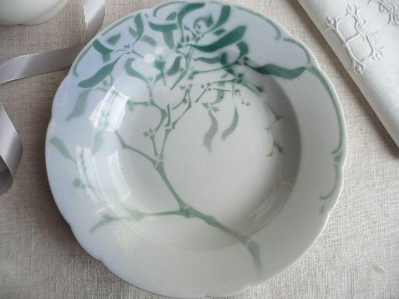 画像1: K&G リュネヴィル エドモン ラシュナル 深皿 ヤドリギ B